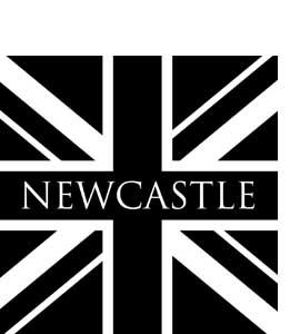 Newcastle Black & White Union Jack (Glass Coaster)