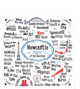 Newcastle Hyem of the Geordies (Greetings Card)