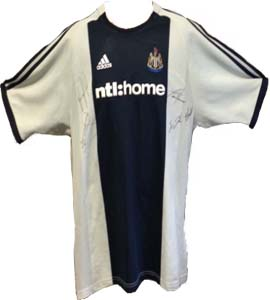 Newcastle United 2002/03 Away Shirt (Signed)
