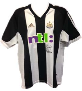 Bobby Robson Newcastle United 2002/03 Home Shirt (Signed)