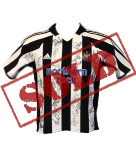 Newcastle United 2004/05 Home Shirt (Signed)