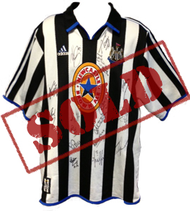 Newcastle United 1999/00 Home Shirt (Signed)