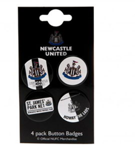 Newcastle United Button Badge Set