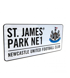 Newcastle United: St James Park Street Sign
