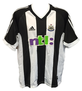 Newcastle United 2001-03 Home Shirt