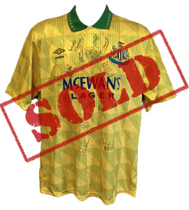Newcastle United 1992/93 Away Shirt (Signed)