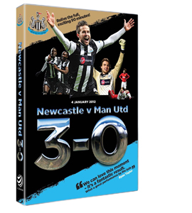 Newcastle United v Manchester United 3-0 4th Jan 2012 (DVD)