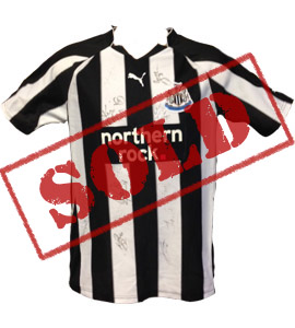 Newcastle United 2010/11 Home Shirt (Signed)