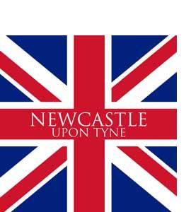 Newcastle Upon Tyne Union Jack (Glass Coaster)