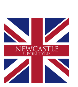 Newcastle Upon Tyne Union Jack (Greetings Card)