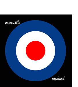 Newcastle/England Mod Target (Glass Coaster)
