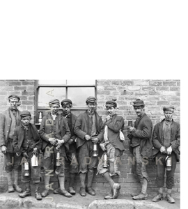 Northumberland Miners 1890 (Greeting Card)