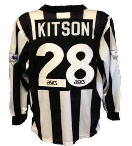 Paul Kitson Newcastle United Shirt 1994/95 (Match-Worn)