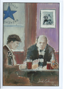 Pre-Match Pint by Dick Gilhespy (Greeting Card)
