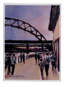 Quayside By Dick Gilhespy (Greeting Card)