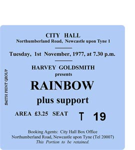 Rainbow City Hall Ticket (Coaster)