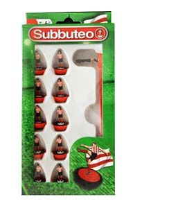 Red & White Stripes Subbuteo Team