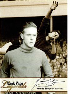 Ronnie Simpson Newcastle United Legends (Postcard)