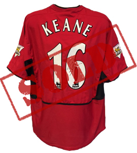 Roy Keane Manchester United 2003/04 Home Shirt (Match-Worn)