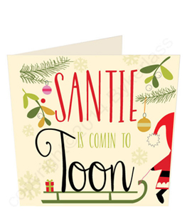 Santie is Coming to Toon (Greeting Card)
