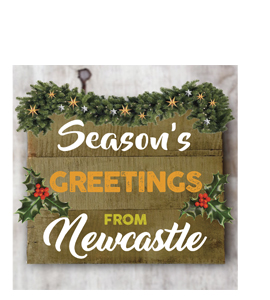 Season's Greetings From Newcastle (Greetings Card)