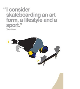 Skateboarding (Greetings Card)