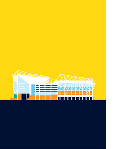 St. James' Park, Newcastle United, Pop Art (Greeting Card)
