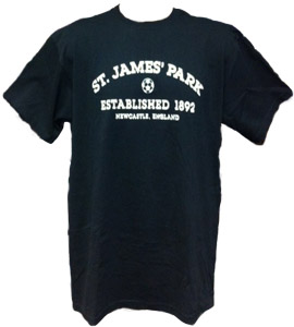 St James Park Newcastle United - Black (T-Shirt)