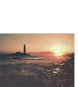 St Mary's Island, Tyneside (Greeting Card)