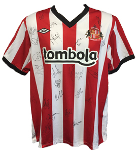 Sunderland 2010/11 Home Shirt (Signed)