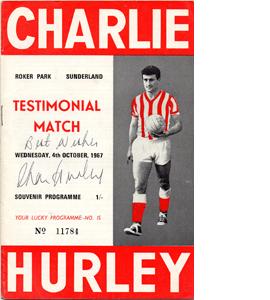 Sunderland Charlie Hurley Testimonial Programme (Signed)