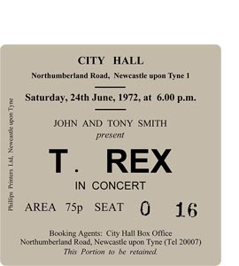 T. Rex City Hall Ticket (Coaster)