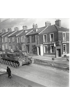Tank, Gloucester Arms. January 1957 (Greeting Card)