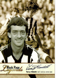 Terry Hibbitt  Newcastle United Legends (Postcard)