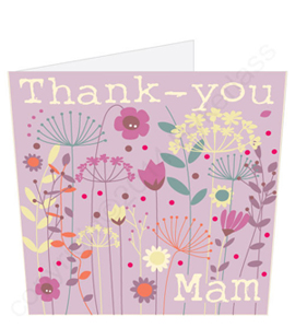 Thank You Mam Mothers Day Card