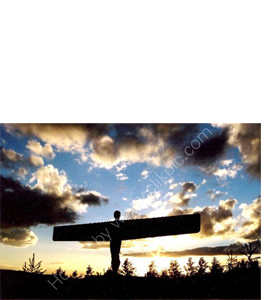 The Angel Of The North, Gateshead (Greeting Card)