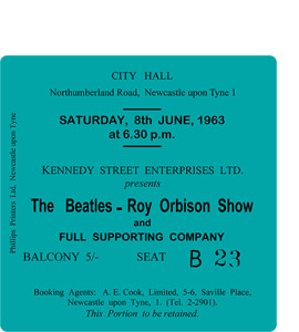 The Beatles & Roy Orbison Show City Hall Ticket (Coaster)
