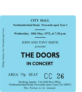 The Doors City Hall Ticket (Coaster)