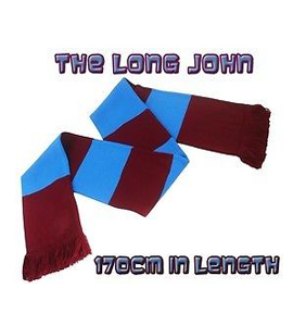 The Long John Bar Scarf Claret & Blue