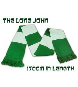 The Long John Bar Scarf Green & White