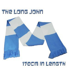 The Long John Bar Scarf Blue & White