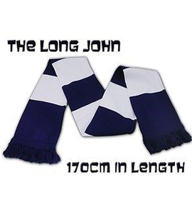 The Long John Bar Scarf Navy & White