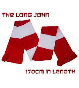 The Long John Bar Scarf Red & White