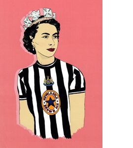 The Queen Newcastle (Greetings Card)