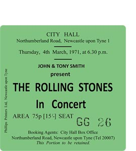 The Rolling Stones City Hall Ticket (Coaster)