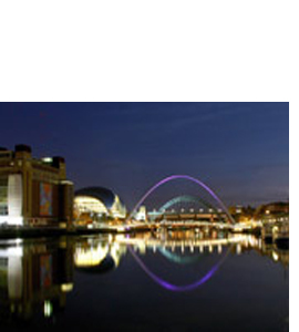 Tyne & Millennium Bridges, The Sage, Baltic (Greeting Card)