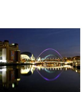 Tyne & Millennium Bridges, The Sage, Baltic (Greeting Card)