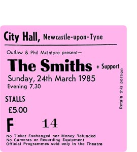 The Smiths City Hall Ticket (Coaster)