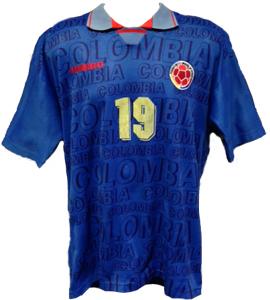 Tino Asprilla Columbia Shirt 1994/95 (Match-Worn)