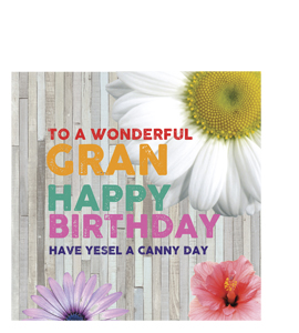 To A Wonderful Gran- Happy Birthday. (Greetings Card),